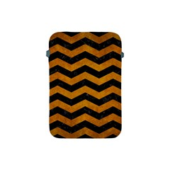 Chevron3 Black Marble & Yellow Grunge Apple Ipad Mini Protective Soft Cases