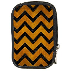 Chevron9 Black Marble & Yellow Grunge Compact Camera Cases
