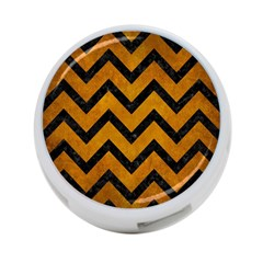 Chevron9 Black Marble & Yellow Grunge 4 Port Usb Hub (two Sides)