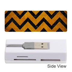 Chevron9 Black Marble & Yellow Grunge Memory Card Reader (stick)