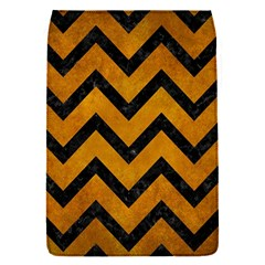 Chevron9 Black Marble & Yellow Grunge Flap Covers (s)