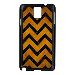 Chevron9 Black Marble & Yellow Grunge Samsung Galaxy Note 3 N9005 Case (black)