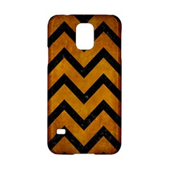 Chevron9 Black Marble & Yellow Grunge Samsung Galaxy S5 Hardshell Case