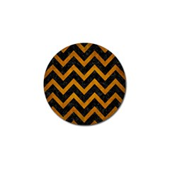 Chevron9 Black Marble & Yellow Grunge (r) Golf Ball Marker (10 Pack)
