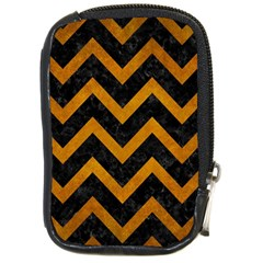 Chevron9 Black Marble & Yellow Grunge (r) Compact Camera Cases
