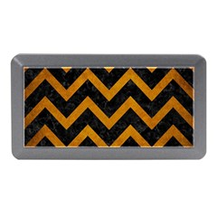 Chevron9 Black Marble & Yellow Grunge (r) Memory Card Reader (mini)