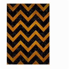 Chevron9 Black Marble & Yellow Grunge (r) Large Garden Flag (two Sides)