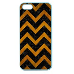 Chevron9 Black Marble & Yellow Grunge (r) Apple Seamless Iphone 5 Case (color)