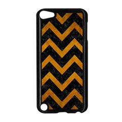 Chevron9 Black Marble & Yellow Grunge (r) Apple Ipod Touch 5 Case (black)