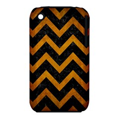 Chevron9 Black Marble & Yellow Grunge (r) Iphone 3s/3gs