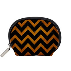 Chevron9 Black Marble & Yellow Grunge (r) Accessory Pouches (small)