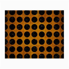 Circles1 Black Marble & Yellow Grunge Small Glasses Cloth (2 Side)