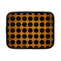 Circles1 Black Marble & Yellow Grunge Netbook Case (small)