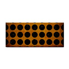 Circles1 Black Marble & Yellow Grunge Cosmetic Storage Cases