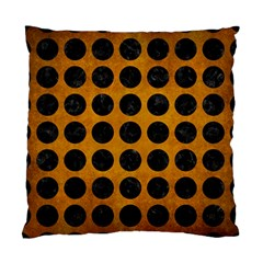 Circles1 Black Marble & Yellow Grunge Standard Cushion Case (two Sides)