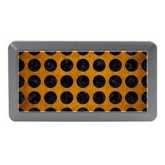 Circles1 Black Marble & Yellow Grunge Memory Card Reader (mini)