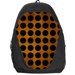 Circles1 Black Marble & Yellow Grunge Backpack Bag
