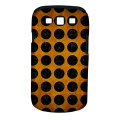 Circles1 Black Marble & Yellow Grunge Samsung Galaxy S Iii Classic Hardshell Case (pc+silicone)