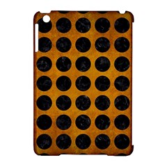 Circles1 Black Marble & Yellow Grunge Apple Ipad Mini Hardshell Case (compatible With Smart Cover)