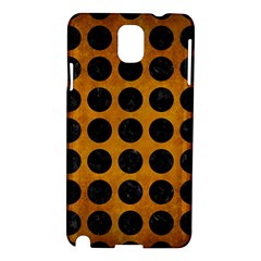 Circles1 Black Marble & Yellow Grunge Samsung Galaxy Note 3 N9005 Hardshell Case