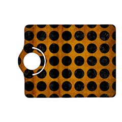 Circles1 Black Marble & Yellow Grunge Kindle Fire Hd (2013) Flip 360 Case