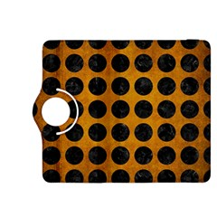 Circles1 Black Marble & Yellow Grunge Kindle Fire Hdx 8 9  Flip 360 Case