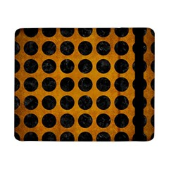 Circles1 Black Marble & Yellow Grunge Samsung Galaxy Tab Pro 8 4  Flip Case