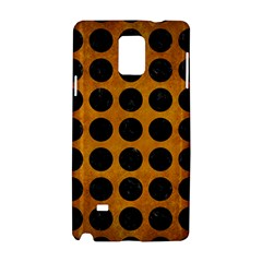 Circles1 Black Marble & Yellow Grunge Samsung Galaxy Note 4 Hardshell Case