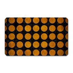 Circles1 Black Marble & Yellow Grunge (r) Magnet (rectangular)