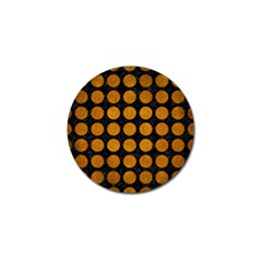 Circles1 Black Marble & Yellow Grunge (r) Golf Ball Marker (4 Pack)
