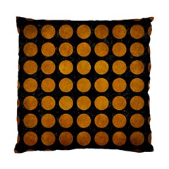Circles1 Black Marble & Yellow Grunge (r) Standard Cushion Case (one Side)