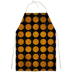 Circles1 Black Marble & Yellow Grunge (r) Full Print Aprons