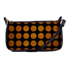 Circles1 Black Marble & Yellow Grunge (r) Shoulder Clutch Bags