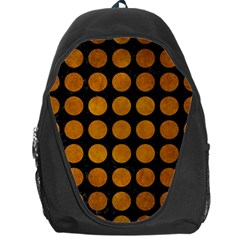 Circles1 Black Marble & Yellow Grunge (r) Backpack Bag