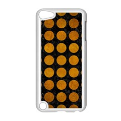 Circles1 Black Marble & Yellow Grunge (r) Apple Ipod Touch 5 Case (white)