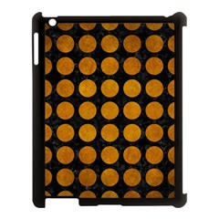 Circles1 Black Marble & Yellow Grunge (r) Apple Ipad 3/4 Case (black)