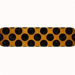 Circles2 Black Marble & Yellow Grunge Large Bar Mats