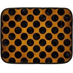 Circles2 Black Marble & Yellow Grunge Double Sided Fleece Blanket (mini)