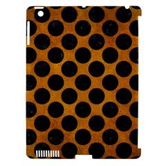 Circles2 Black Marble & Yellow Grunge Apple Ipad 3/4 Hardshell Case (compatible With Smart Cover)