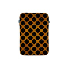Circles2 Black Marble & Yellow Grunge Apple Ipad Mini Protective Soft Cases