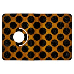 Circles2 Black Marble & Yellow Grunge Kindle Fire Hdx Flip 360 Case