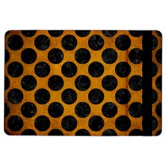 Circles2 Black Marble & Yellow Grunge Ipad Air 2 Flip