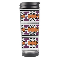 Purple And Brown Shapes                                  Travel Tumbler
