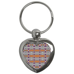 Purple And Brown Shapes                                  Key Chain (heart)