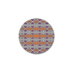 Purple And Brown Shapes                                  Golf Ball Marker