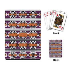 Purple And Brown Shapes                                  Playing Cards Single Design