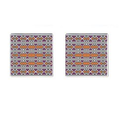 Purple And Brown Shapes                                  Cufflinks (square)