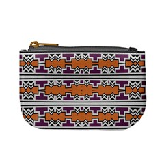 Purple And Brown Shapes                            Mini Coin Purse