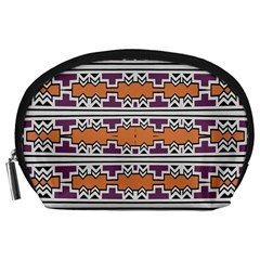 Purple And Brown Shapes                                  Accessory Pouch