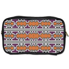 Purple And Brown Shapes                                  Toiletries Bag (two Sides)